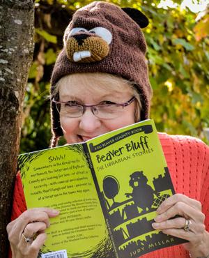 Judy Millar beaver bluff book and beaver hat