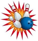 Bowling pins knocked down