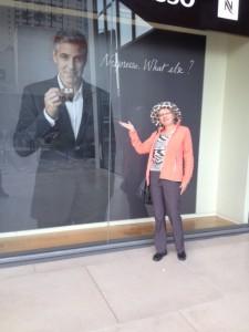George Clooney street corner